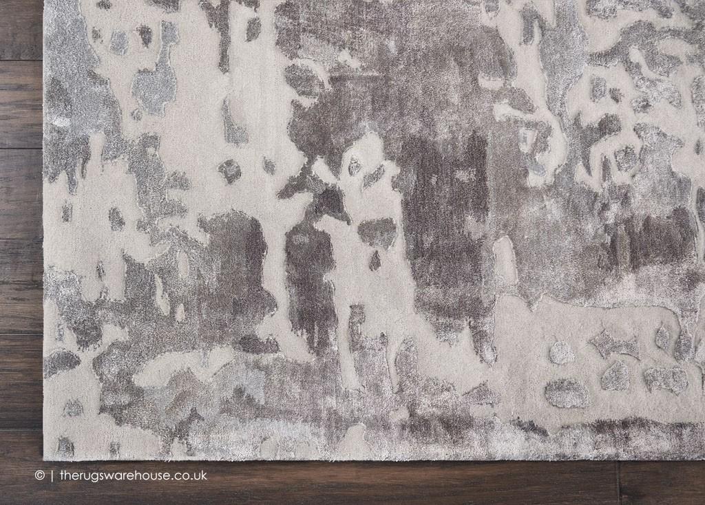 Prismatic Silver Grey Rug