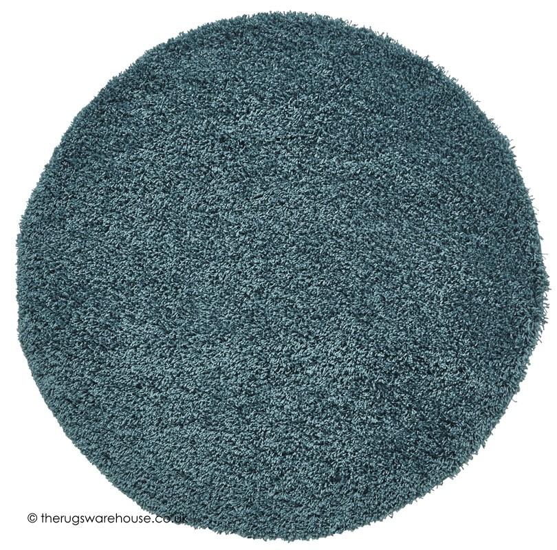 Vista Teal Blue Circle Rug