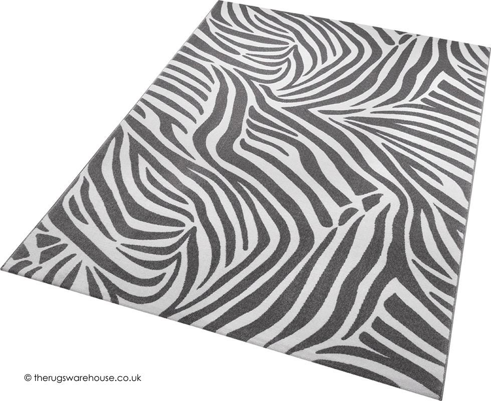 Jungle Zebra Grey Rug