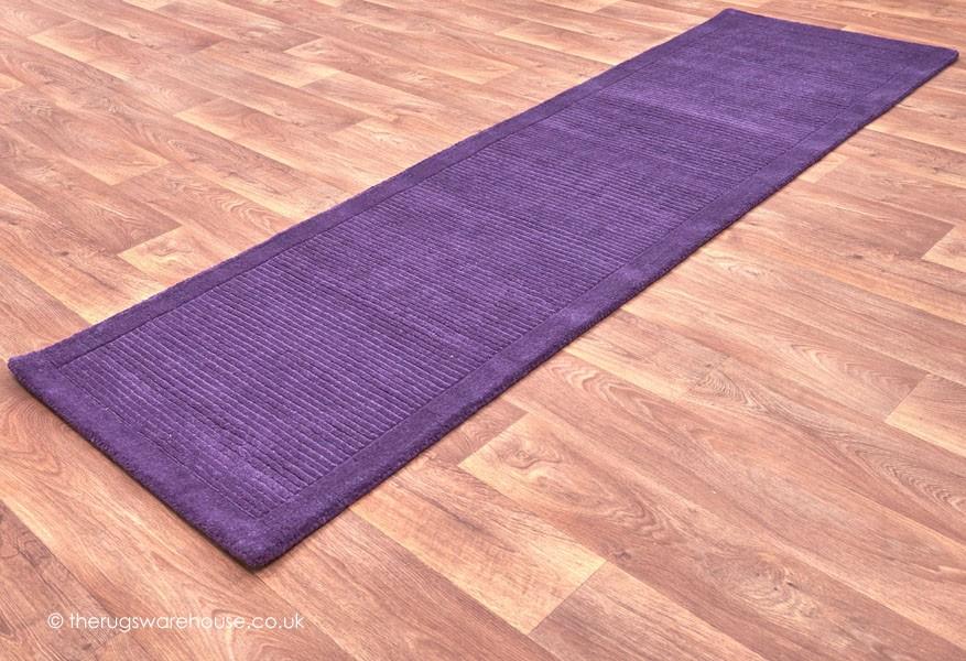 York Purple Runner Purple Rugs