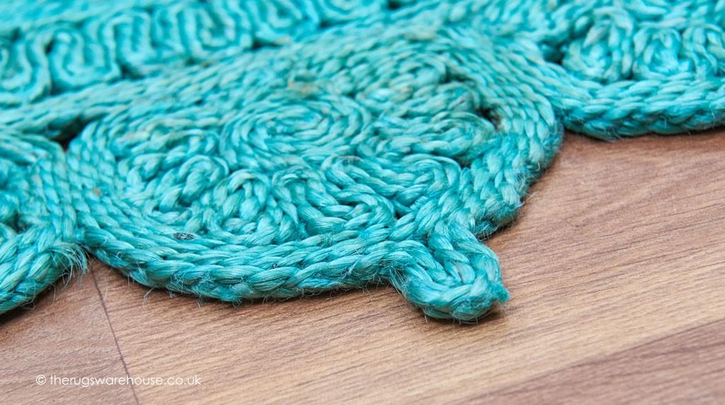 Zira Light Turquoise Circle Rug