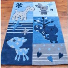 Baby Animals Blue Rug