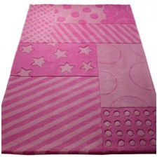 Pink Stars Stripes Rug