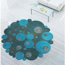 Limouge Blue Circle Rug
