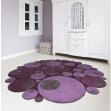 Limouge Purple Circle Rug