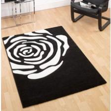 Rose Black Rug