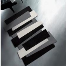 Black Steps Rug