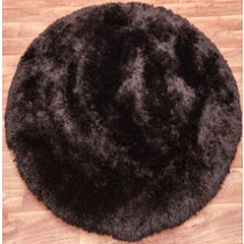 Plush Choco Circle Rug