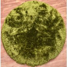 Plush Green Circle Rug