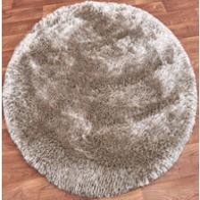 Plush Sand Circle Rug