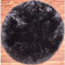 Plush Slate Circle Rug