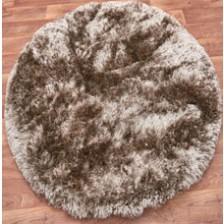 Plush Taupe Circle Rug