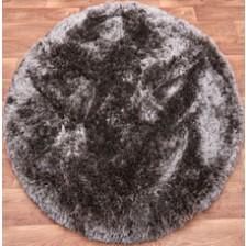 Plush Zinc Circle Rug