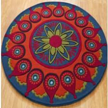 Orange Remix Circle Rug