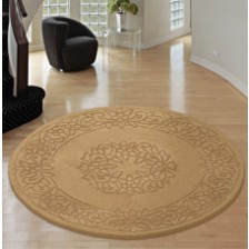 Royale Camel Circle Rug