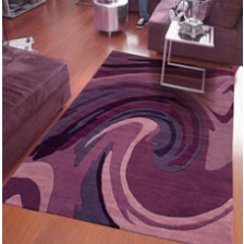 Purple Wave Rug