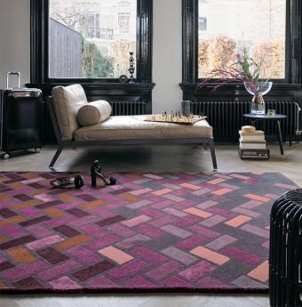 Purple rugs purple aubergine rugs plum rugs for Plum and cream rug