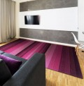 Altea Wide Stripes Purple Rug
