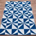 Mosaic Denim Rug