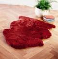 Red Sheepskin Rug
