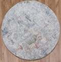 Tibesti Grey Mix Circle Rug