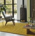 Pinstripe Yellow Rug