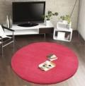 Comfort Raspberry Circle Rug