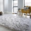 Faux Fur Grey Rug