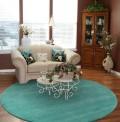 Comfort Aqua Circle Rug