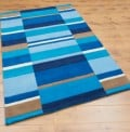 Blue Blocks Rugs