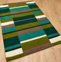 Green Blocks Rug