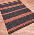 Jute Stripes Charcoal Rug