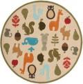 Baby Animals Circle Rug