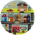 Small Town Circle Rug