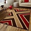Cavern Brown Red Rug