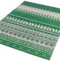 Tribal Stripes Green Rug