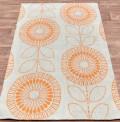 Scandi Flower Orange Rug