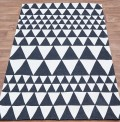 Triangles Black Rug