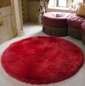 Pearl Raspberry Circle Rug