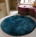 Pearl Teal Circle Rug