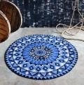 Oporto Indigo Circle Rug