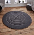 Spiral Grey Rug
