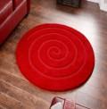 Spiral Red Rug