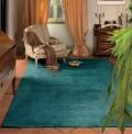 Trendy Shiny Turquoise Rug