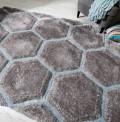 Honeycomb Grey Blue Rug