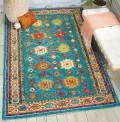 Vibrant Oriental Teal Rug