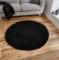 Vista Black Circle Rug