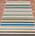 Vogue Stripes Blue Rug