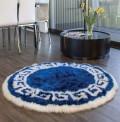 Wedgewood Blue Circle Rug